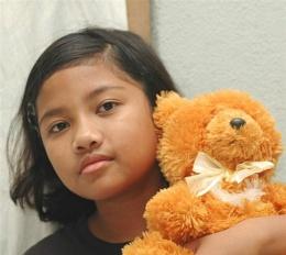 My girl and teddy the bear