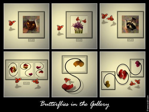 Butterflies in the Gallery by ading