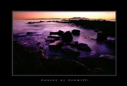 Sunset at seamill by ddunn