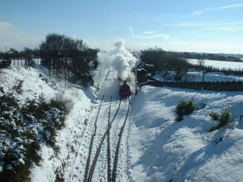 STEAM IN THE SNOW by bradpete