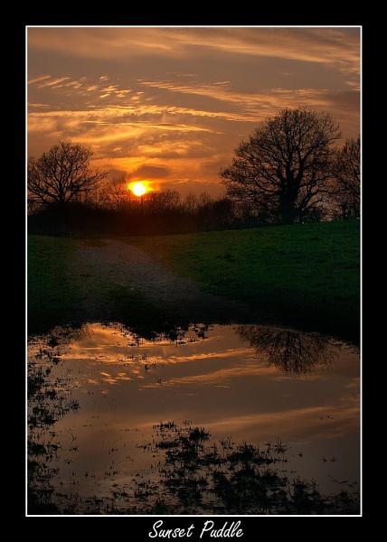 Sunset Puddle by Kris_Dutson