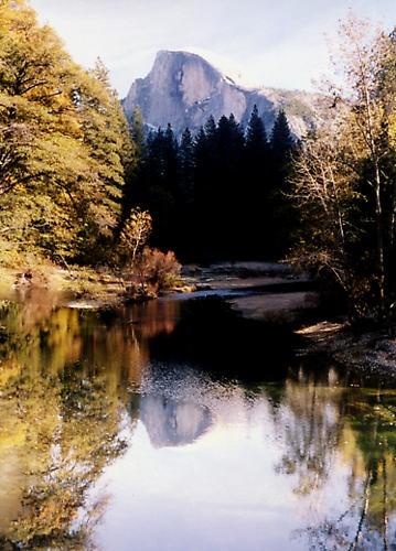 Half Dome Reflection at Yosemite by liparig