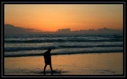 sulks at sunset