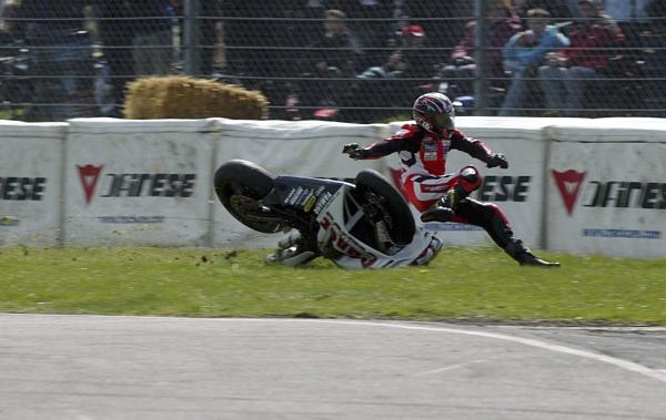 Thruxton Crash by Burgy_Tog