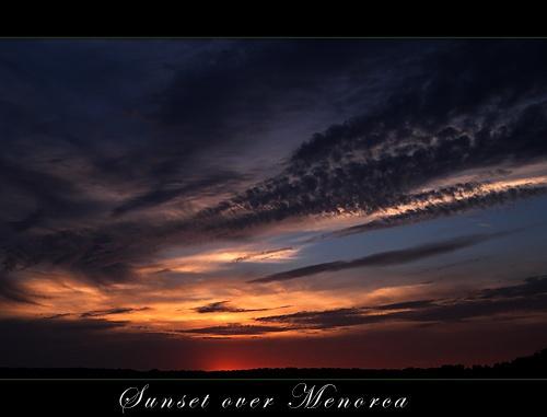 Sunset over Menorca by obz_uk