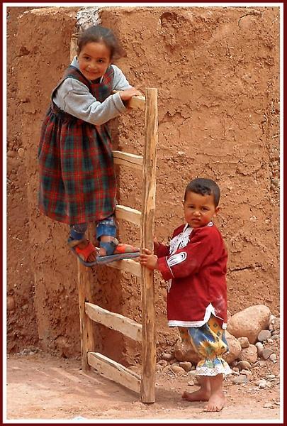 Moroccan Children by Joanie