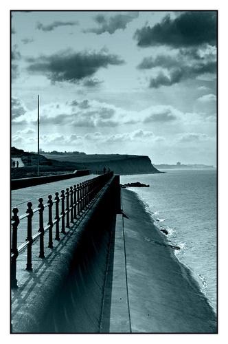 Reculver Beach Wall by ReidFJR