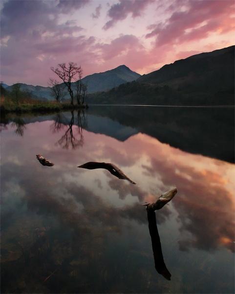 Llyn Gwynant, Sunset 2 by mrarth