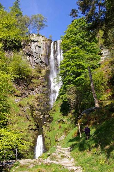 Pistyll Falls by johnriley1uk