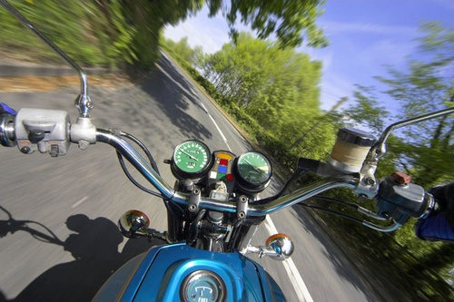 Riders eye view by snapperstan