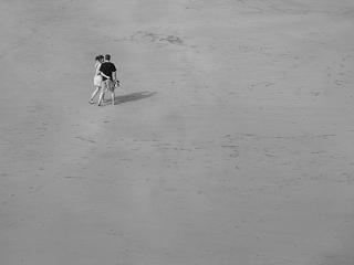 beach walk by iainpb