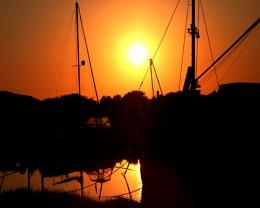 Boatyard at Sundown