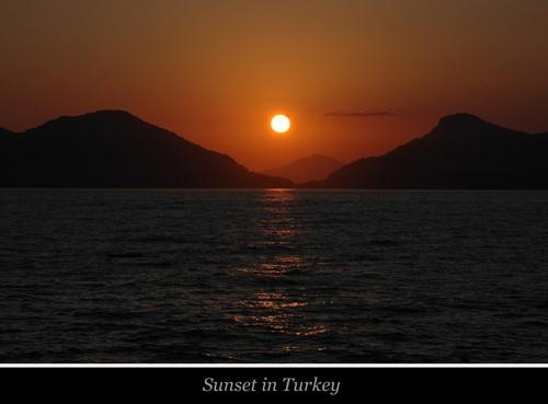 Sunset in Turkey by Keith-Mckevitt