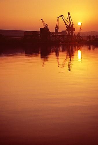 Birkenhead Docks by face of fading youth