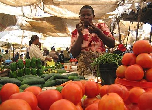 Vegetable seller, African Market by Redbarron