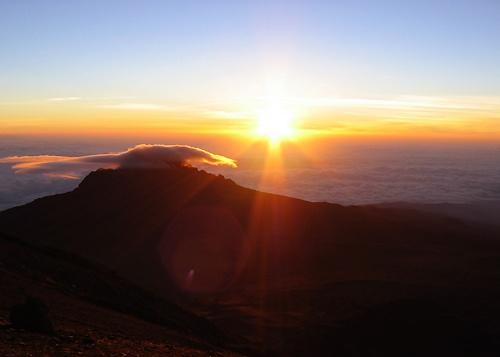 Sunrise Kilimanjaro by Redbarron