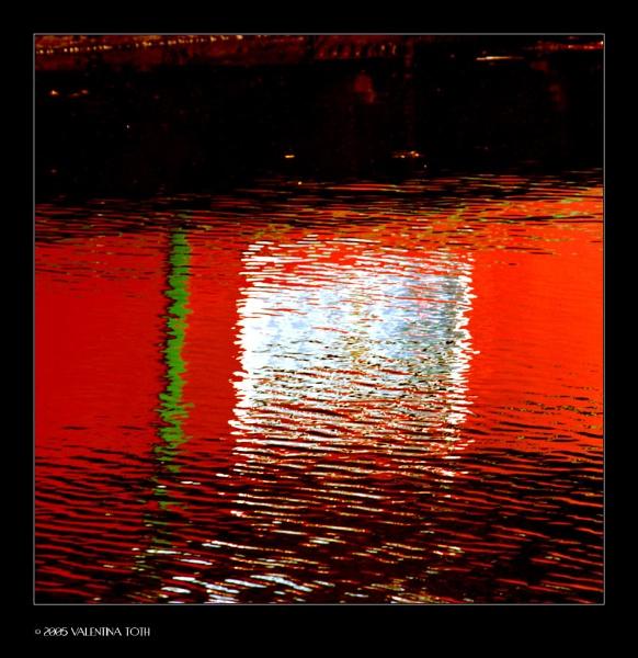 boat in ripples by vtoth