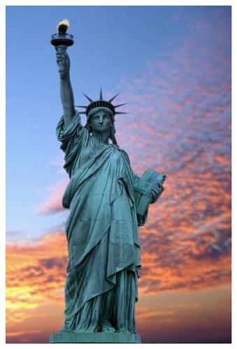 liberty of a statue by mwatkins9801