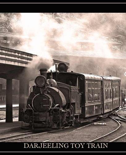 Darjeeling toy train by Kali
