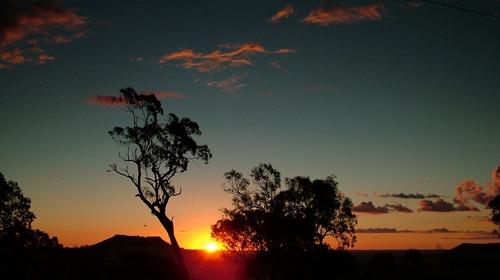 setting sun by pea