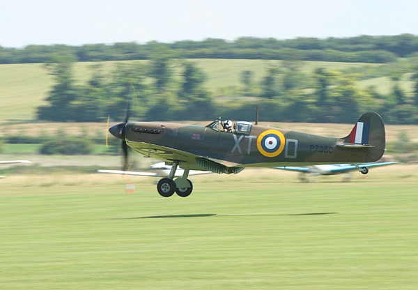 Landing Spitfire by dougv