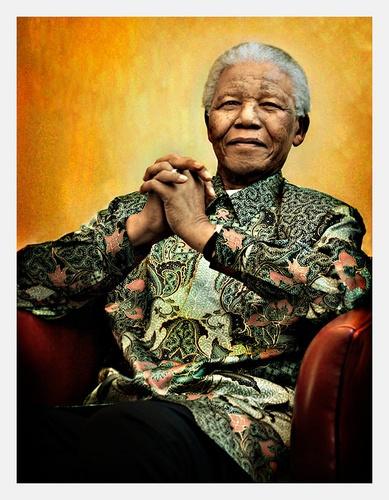 Nelson Mandela by oisteinth