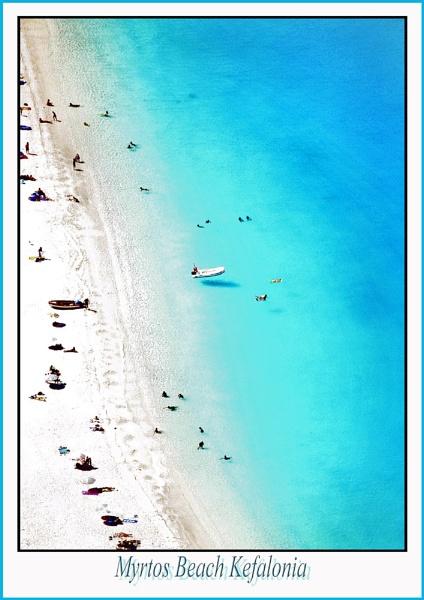 Myrtos beach Greece by paulcr