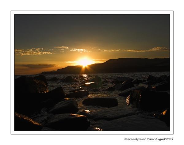 kimmeridge sunset by christabella