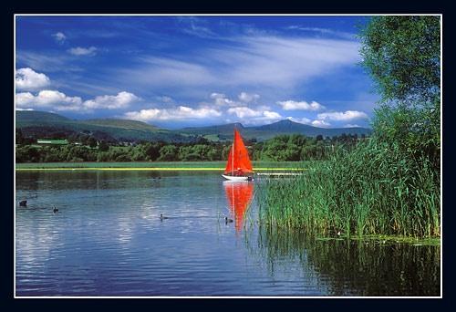 Sailing on Llangors Lake by jond