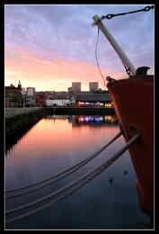 city quay sunset