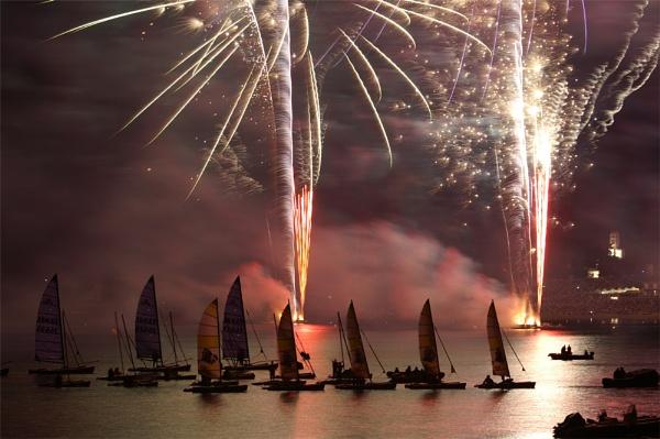 Benodet fireworks by AnneMB