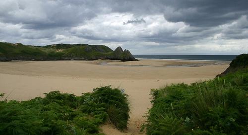 Three cliffs bay by royd63uk