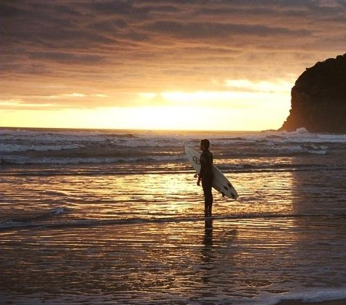 Sunset Surfer by abtayler