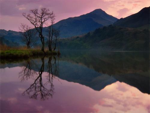 Llyn Gwynant Dusk by mrarth