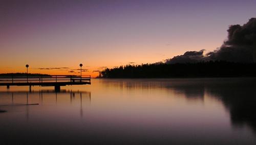 Bridge at sunset by ojjo