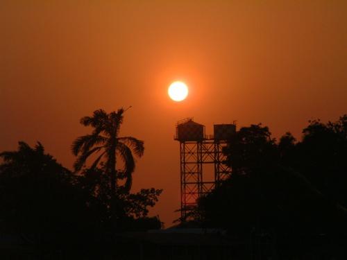 Sunrise in Belize by Blackdog