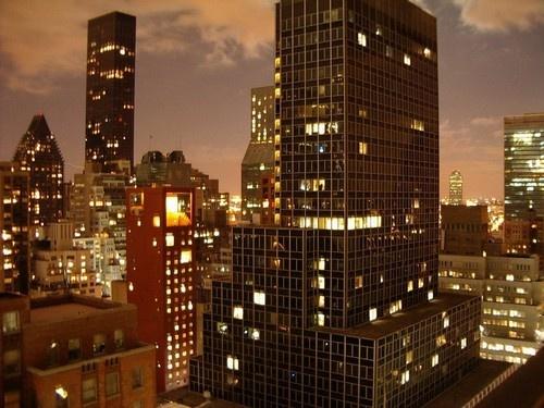 New York Night Skyline by tractor