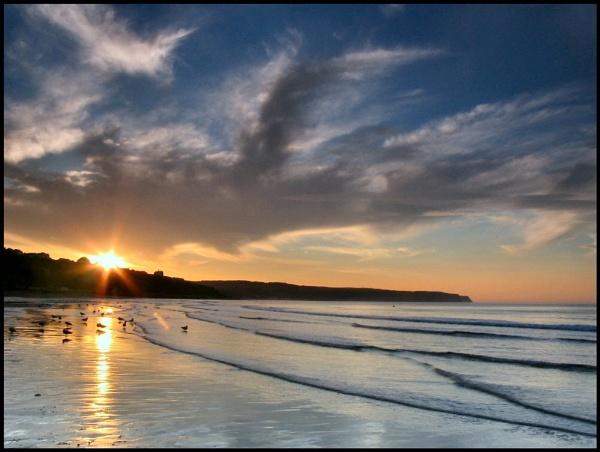 Sandsend Sunset by AntHolloway
