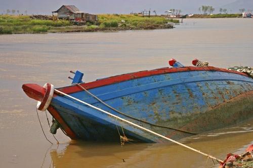 Tsunami Boat by Linda L. Hudson