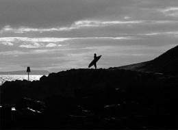Surfer silouette