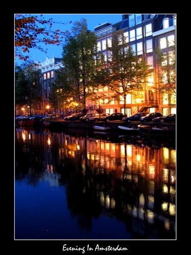 Evening In Amsterdam by tinemazgon