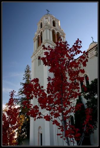 Fall Colors & Church by liparig