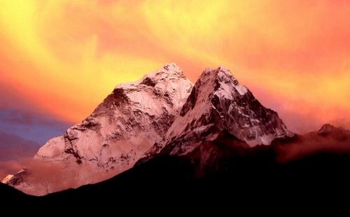 Himalayan sunset by Falconer