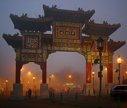 Misty Chinatown by ericfaragh