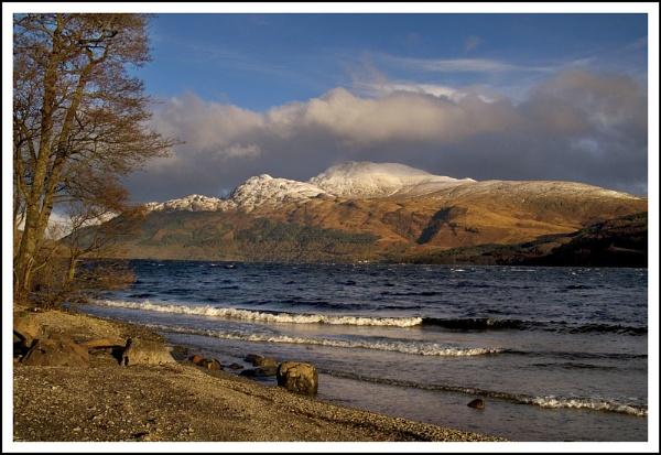Ben Lomond snow... by Scottishlandscapes
