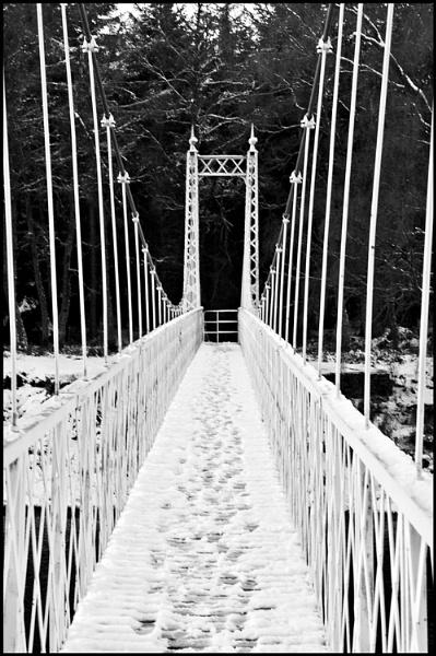 Footbridge in Winter by amaryllis