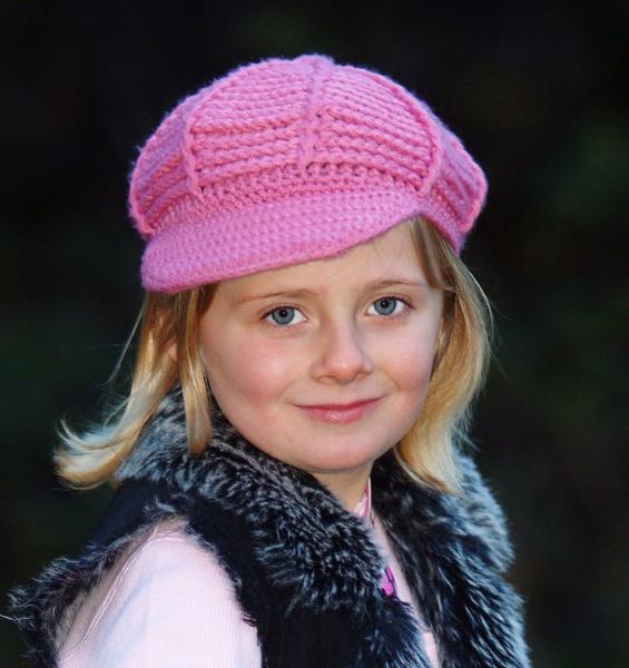 Charlotte in a pink hat by debbiehardy