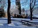 Overnight snow - Thompson Park, Burnley