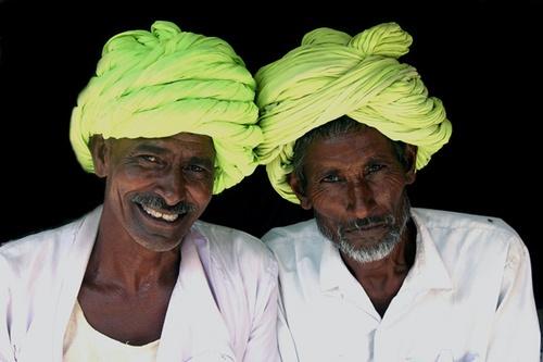 Lime turban twins by Kali