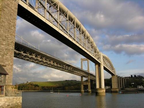 Tamar Bridge by tractor